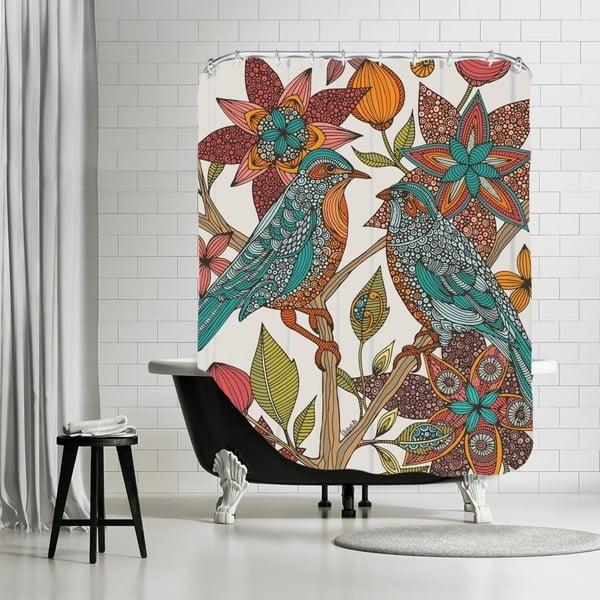 Koupelnový závěs Love Birds, 180x180 cm