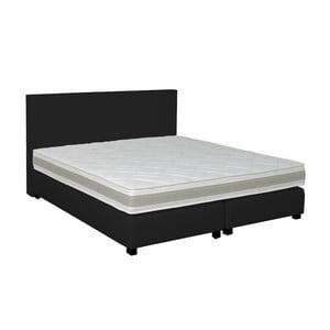 Černá boxspring postel Revor Deco,160x200cm