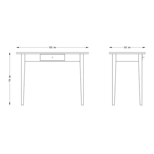 Jídelní stůl z borovicového dřeva se zásuvkou Askala Scala, 100x75cm