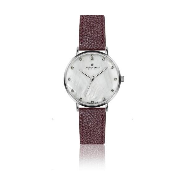Dámske hodinky s vínovým remienkom z pravej kože Frederic Graff Mont Dolent