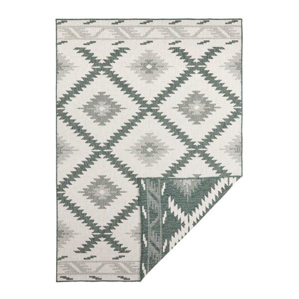 Covor reversibil adecvat interior/exterior Bougari Malibu, 170 x 120 cm, verde-crem