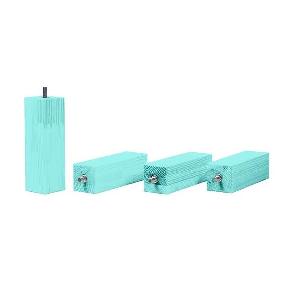 Set sertar pentru pat și 4 picioare înălțătoare, pentru patul Benlemi120x200cm, albastru