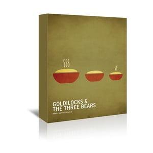 Obraz na plátně Goldilocks With Text od Christiana Jacksona