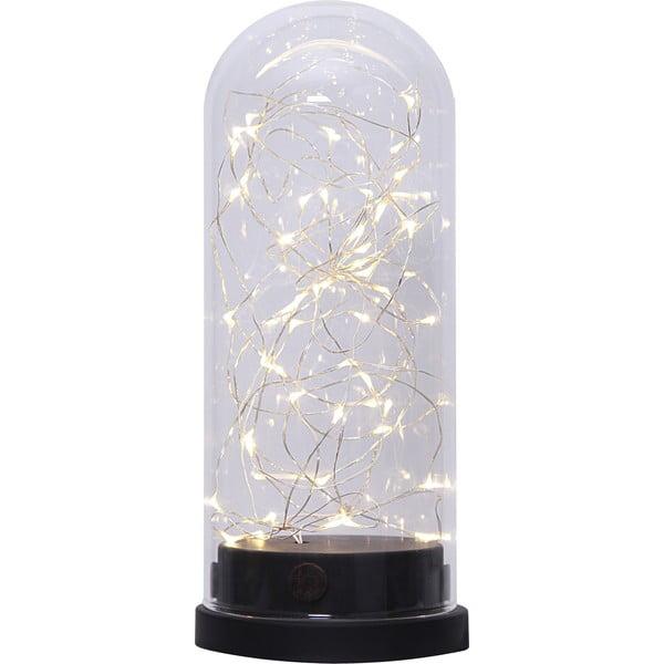 Černá LED světelná dekorace Best Season Glass Dome, výška 25 cm