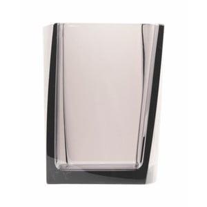 Dóza na kartáčky Transparent Dark Grey