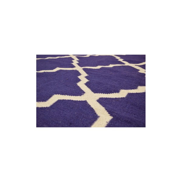 Vlněný modrý koberec Bakero Kilim Jasmina Navy Blue, 160x230cm