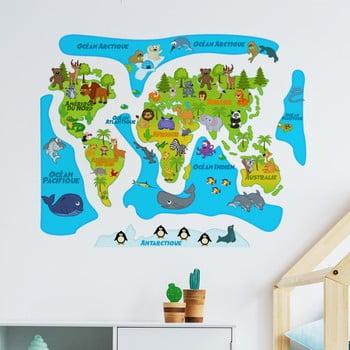 Autocolant de perete Ambiance Colored Baby World Map de la Ambiance