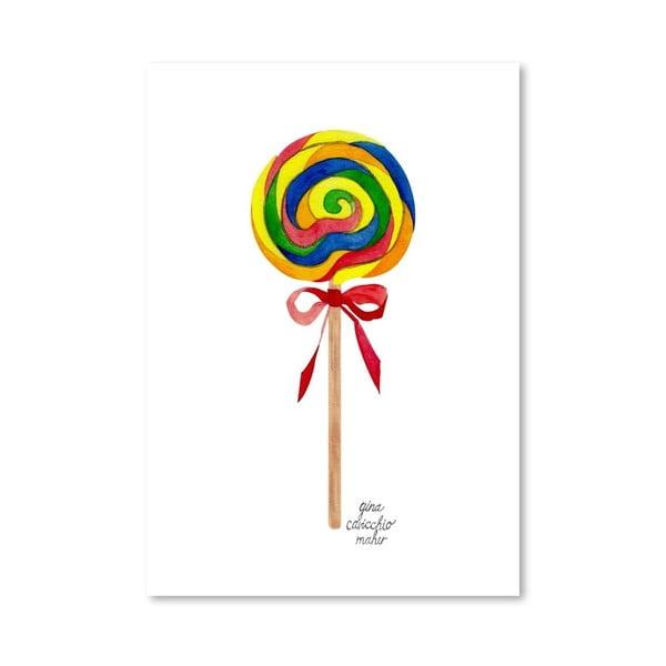 Autorský plakát Lollipop, 30x42 cm