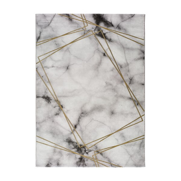 Šedo-bílý koberec Universal Artist Marble, 160 x 230 cm