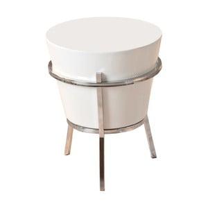 Bílý odkládací stolek 13Casa Relaxar