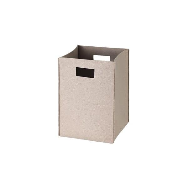 Plstěná krabice 36x25 cm, béžová