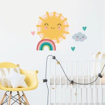 Set autocolante pentru perete Ambiance Sun, Clound and Rainbow imagine