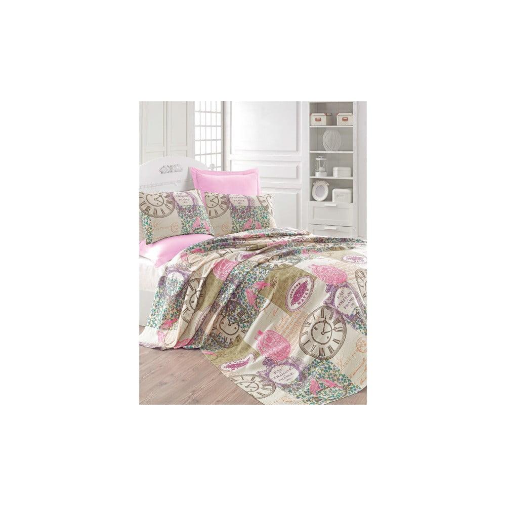 Lehký přehoz přes postel Misteral Pink, 200x235 cm