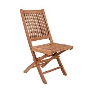 Sada 2 skládacích zahradních židlí z teakového dřeva Crido Consulting Teak