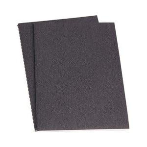 Sada 2 šedých poznámkových bloků Bigso, 40 stran