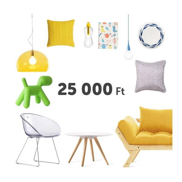 Virtuális ajándékutalvány 25 000 Ft értékben
