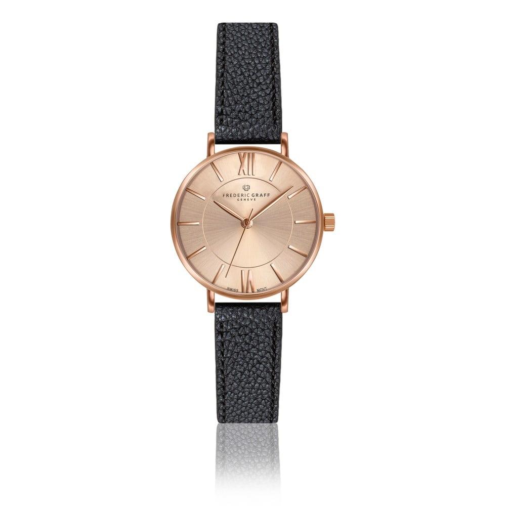 Dámské hodinky s páskem z pravé kůže ve starorůžové barvě Frederic Graff Shispare