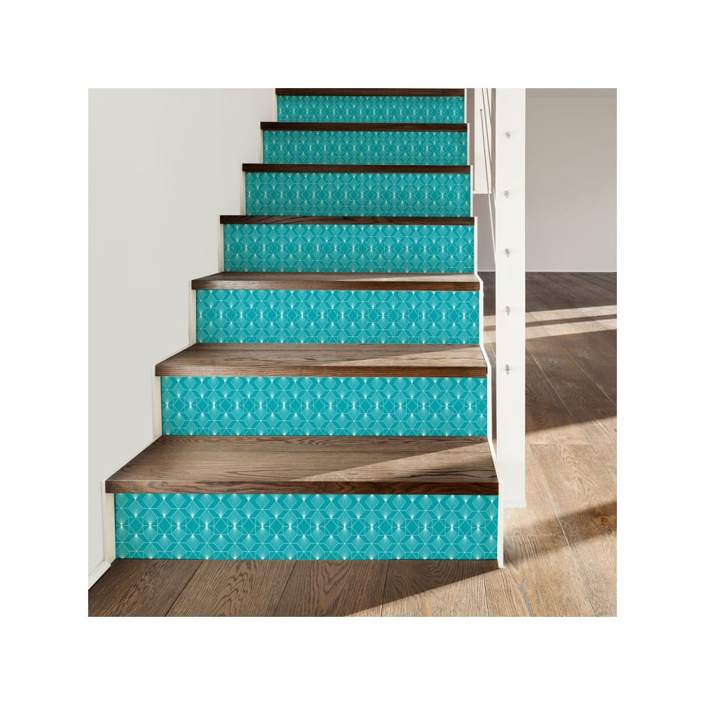 Sada 2 samolepek na schody Ambiance Stairs Stickers Christer, 15 x 105 cm