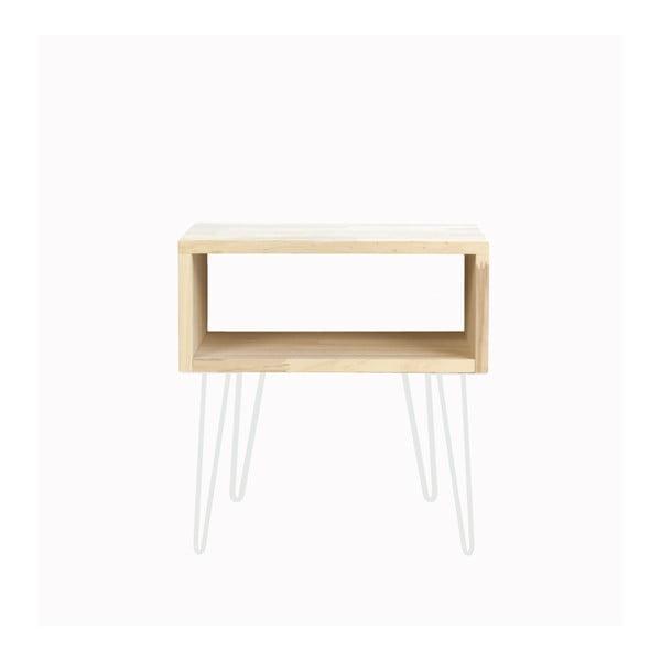 Odkládací stolek s bílými nohami Really Nice Things, výška 63 cm