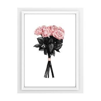 Poster cu ramă Piacenza Art Pink Rose imagine