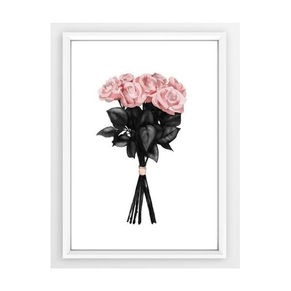 Poster cu ramă Piacenza Art Pink Rose