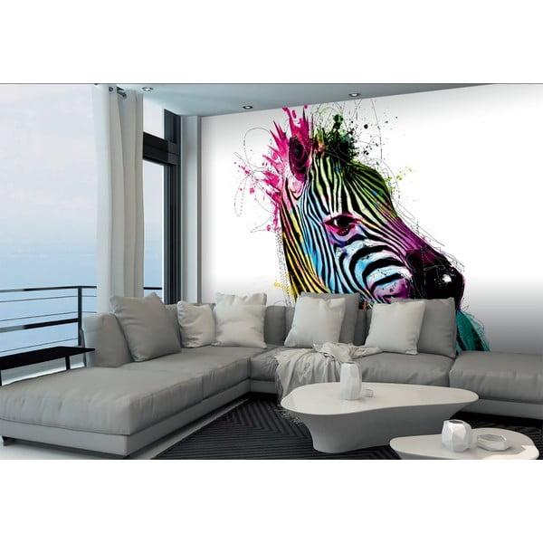 Tapet în format mare Zebra colorată, 366x254 cm
