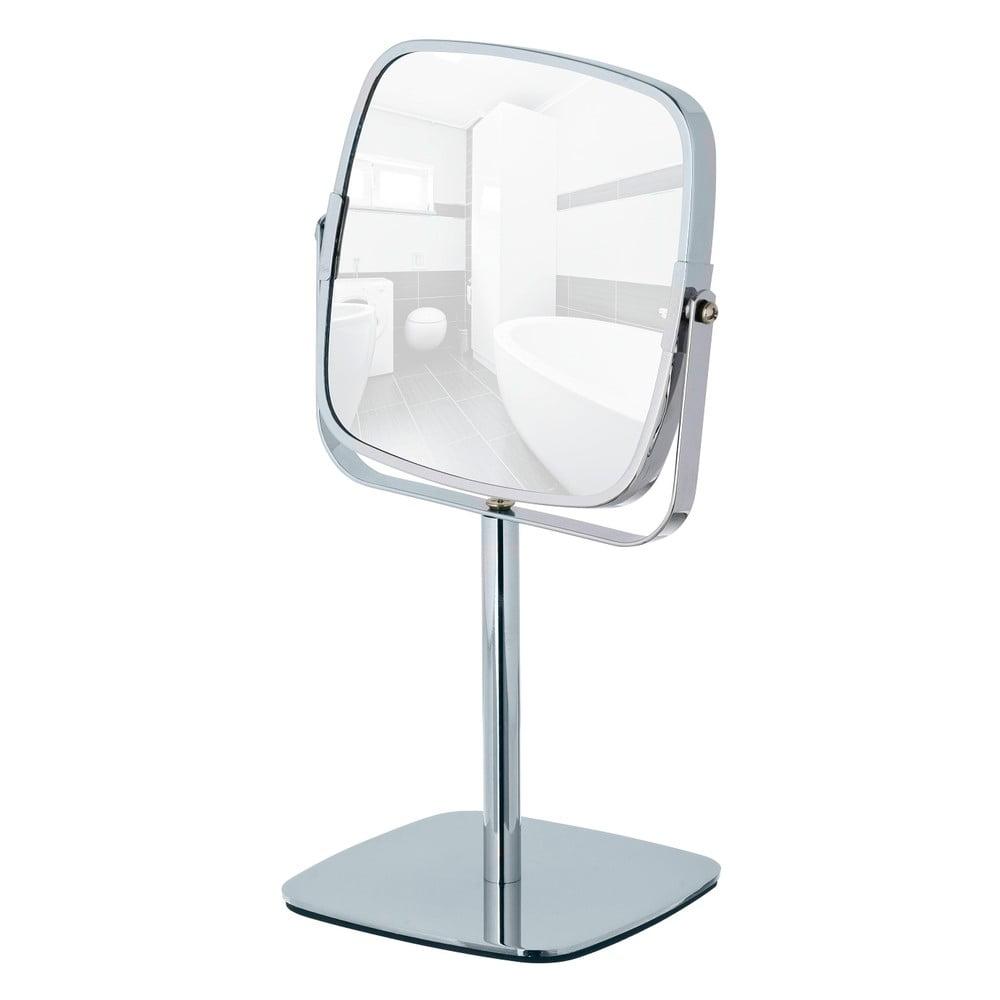 Chromované stojací zvětšovací zrcadlo Wenko Kare, výška 30 cm