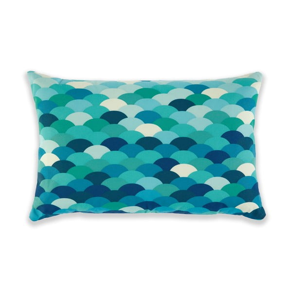Polštář Waves Green/Turquoise, 60x40 cm