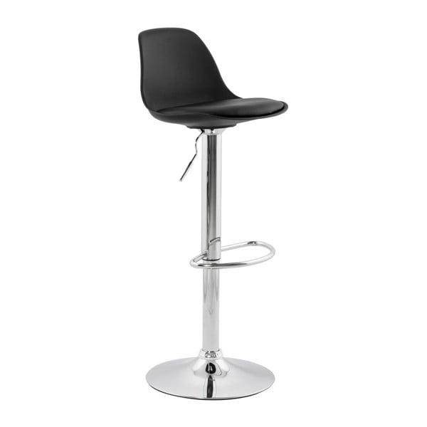 Čierna barová stolička so sdadlom z pravej kože Kokoon Suki