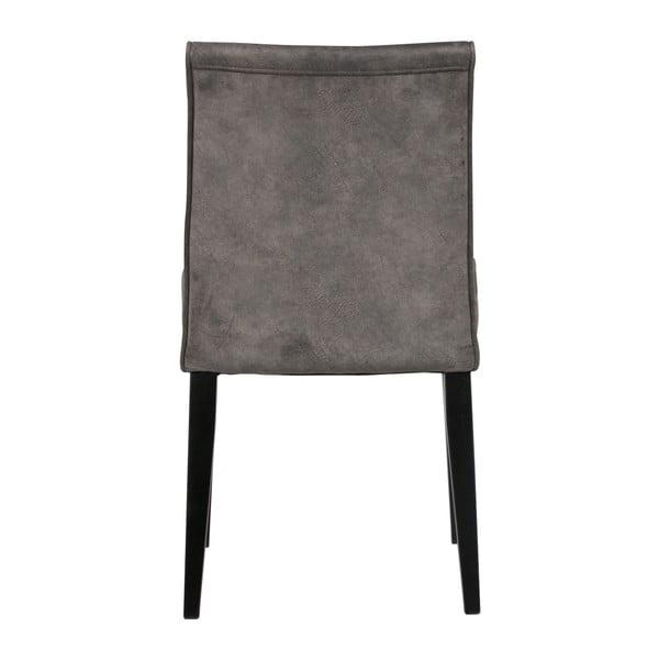 Sada 2 tmavě šedých židlí De Eekhoorn Roos