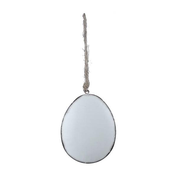 Fehér, tojás formájú függő dekorcáió - Ego Dekor