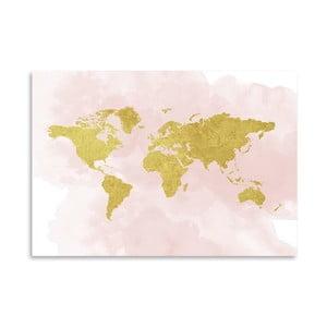 Plakát Americanflat Glitter Map, 30x42cm