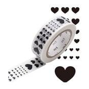 Černobílá washi páska MT Masking Tape Heart
