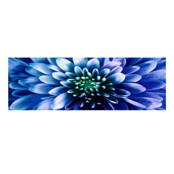 Obraz na skle Modrý květ, 30x90 cm