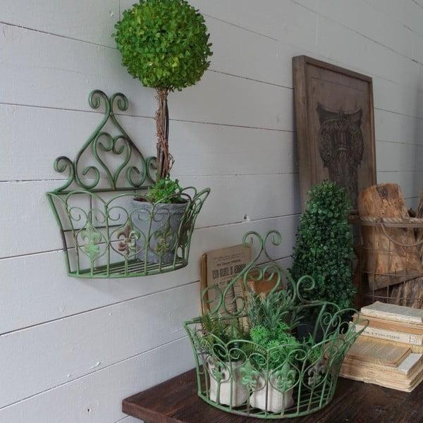 Sada 2 nástěnných stojanů Antique Green