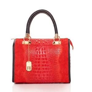 Červená kabelka z pravé kůže Federica Bassi Dinah