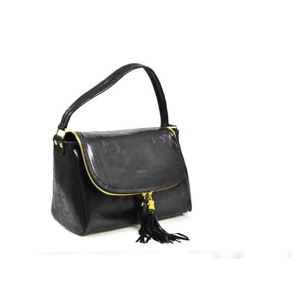 Kožená kabelka Eleonore, černá