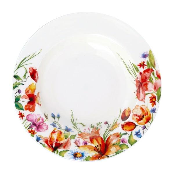Barevný polévkový talíř Krauff Colibri, 21,5 cm