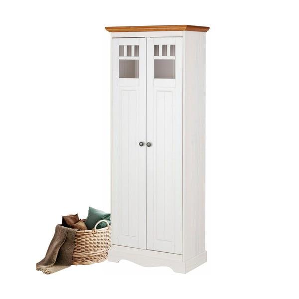 Bílá dřevěná šatní skříň Støraa Monty Detail