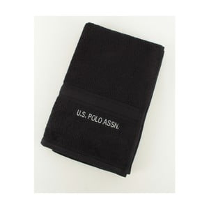 Osuška US Polo Towel Black, 70x140 cm