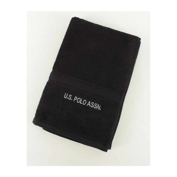 Osuška US Polo Towel Black, 70x140 cm