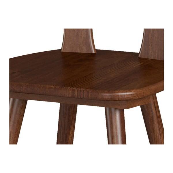Sada 2 jídelních židlí z masivního borovicového dřeva Interlink Aosta