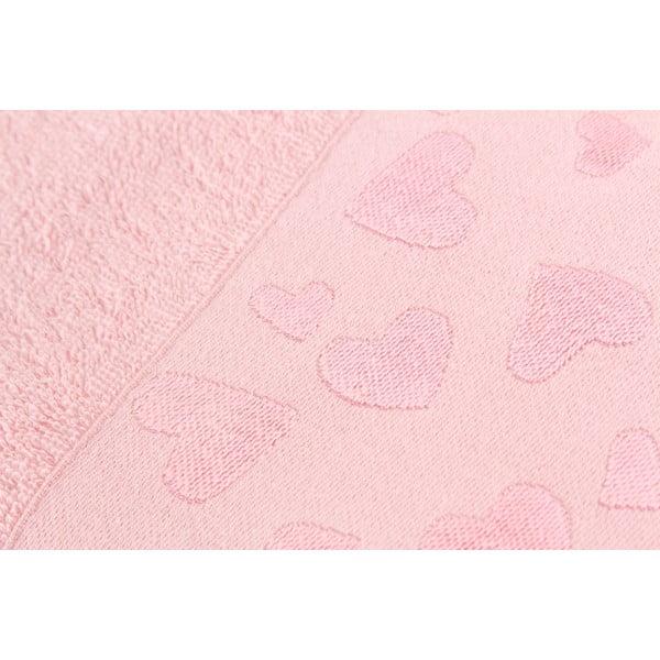 Sada 2 ručníků Kalp Dusty Rose, 50x90 cm