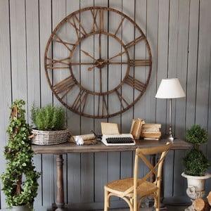 Nástěnné hodiny Industrial Rusty Brown, 114 cm