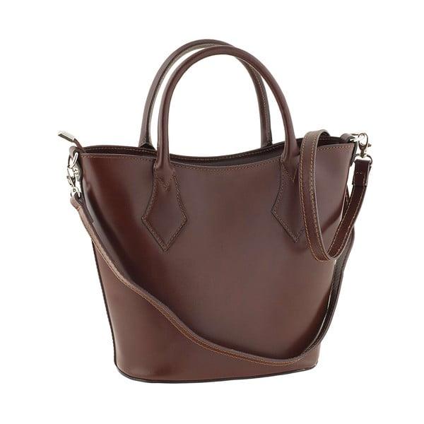 Kožená kabelka Teggie Brown