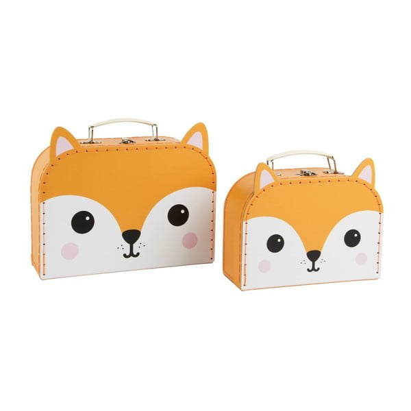 Sada 2 kufříků Sass & Belle Hiro Fox Kawaii