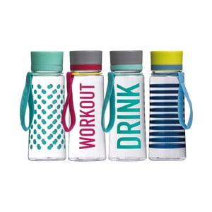 Sada 4 cestovních lahví Premier Housewares Mimo Water Bottle 650ml, 4ks