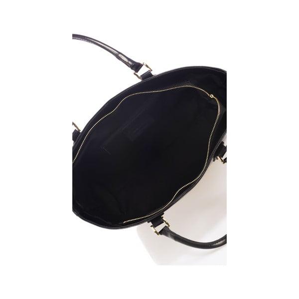 Černá kožená kabelka Italiai 351