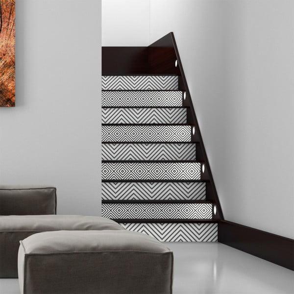 Sada 2 samolepek na schody Ambiance Thora, 15 x 105 cm