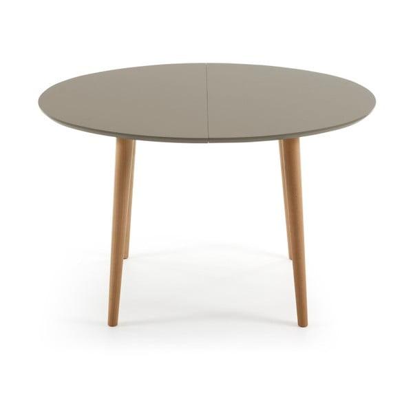 Šedý rozkládací jídelní stůl La Forma Oakland, 120-200 cm